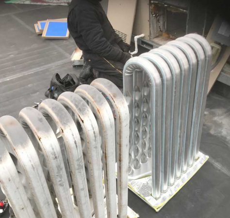 Cracked heat exchanger replacement (commercial)