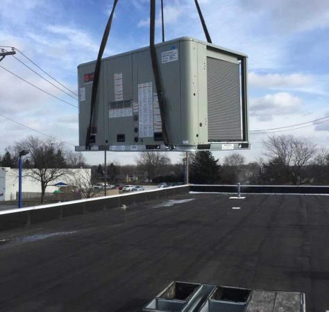 Installing new trane roof top unit