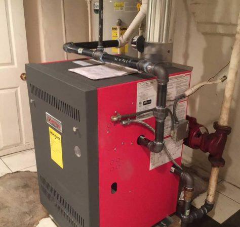 New residential boiler installation
