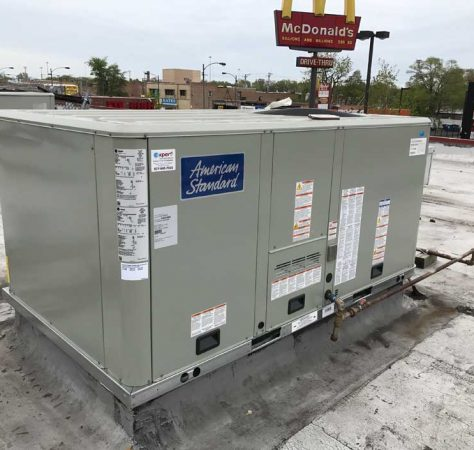 New Commercial roof top unit Chicago