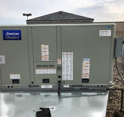 New Commercial roof top unit installed